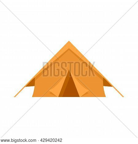 Survival Tent Icon. Flat Illustration Of Survival Tent Vector Icon Isolated On White Background