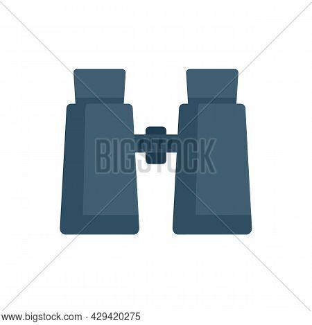 Survival Binoculars Icon. Flat Illustration Of Survival Binoculars Vector Icon Isolated On White Bac