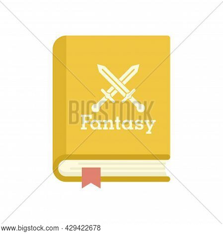 Fantasy Book Icon. Flat Illustration Of Fantasy Book Vector Icon Isolated On White Background