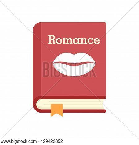 Literary Romance Book Icon. Flat Illustration Of Literary Romance Book Vector Icon Isolated On White