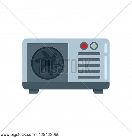 Commercial Air Conditioner Icon. Flat Illustration Of Commercial Air Conditioner Vector Icon Isolate