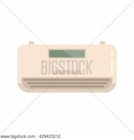 Air Climate Control Icon. Flat Illustration Of Air Climate Control Vector Icon Isolated On White Bac