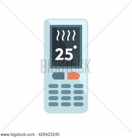 Climate Remote Control Icon. Flat Illustration Of Climate Remote Control Vector Icon Isolated On Whi