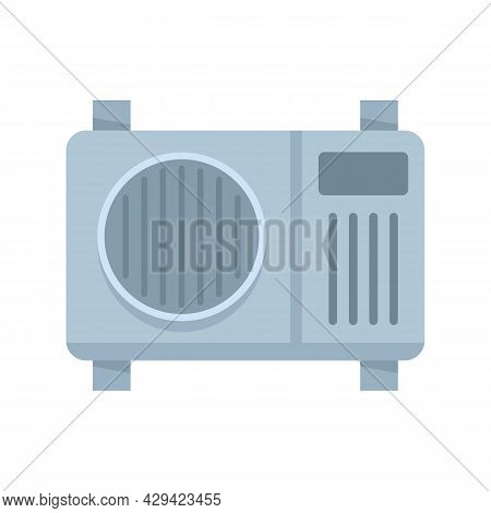 Fan Air Conditioner Icon. Flat Illustration Of Fan Air Conditioner Vector Icon Isolated On White Bac