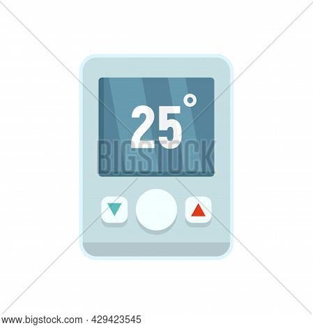Wall Climate Remote Control Icon. Flat Illustration Of Wall Climate Remote Control Vector Icon Isola