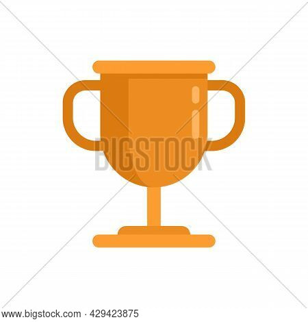 Life Skills Gold Cup Icon. Flat Illustration Of Life Skills Gold Cup Vector Icon Isolated On White B