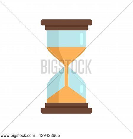 Life Skills Hourglass Icon. Flat Illustration Of Life Skills Hourglass Vector Icon Isolated On White