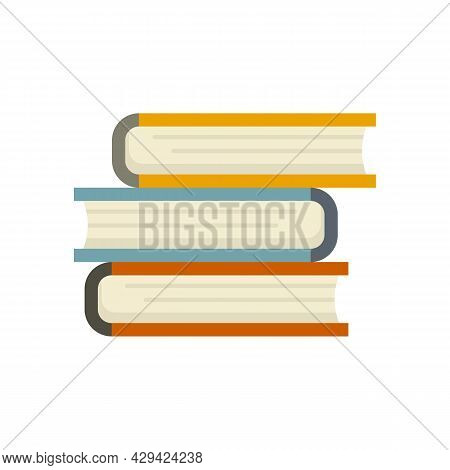 Book Stack Icon. Flat Illustration Of Book Stack Vector Icon Isolated On White Background