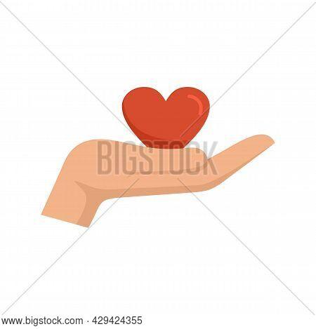 Keep Heart Skills Icon. Flat Illustration Of Keep Heart Skills Vector Icon Isolated On White Backgro