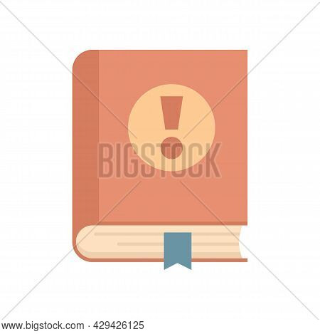Mission Book Icon. Flat Illustration Of Mission Book Vector Icon Isolated On White Background