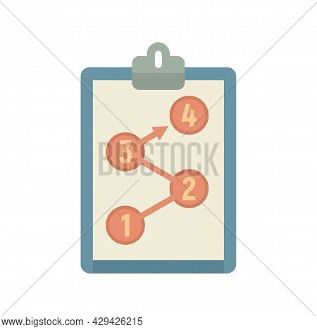Clipboard Mission Icon. Flat Illustration Of Clipboard Mission Vector Icon Isolated On White Backgro
