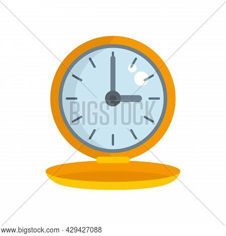 Gold Portable Watch Repair Icon. Flat Illustration Of Gold Portable Watch Repair Vector Icon Isolate