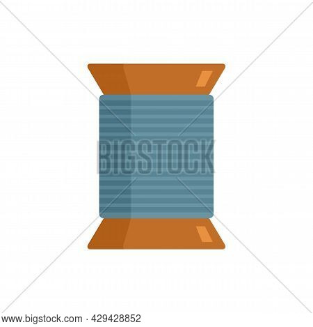 Thread Coil Icon. Flat Illustration Of Thread Coil Vector Icon Isolated On White Background