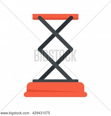 Jack-screw Stand Icon. Flat Illustration Of Jack-screw Stand Vector Icon Isolated On White Backgroun