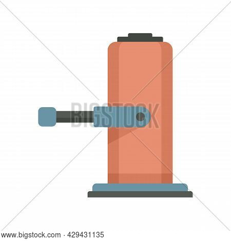 Lifter Jack-screw Icon. Flat Illustration Of Lifter Jack-screw Vector Icon Isolated On White Backgro