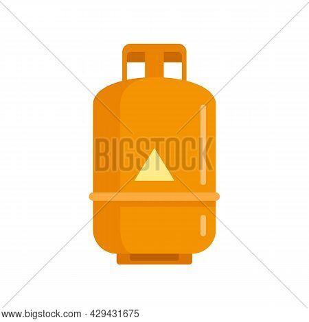 Gas Cylinder Propane Icon. Flat Illustration Of Gas Cylinder Propane Vector Icon Isolated On White B
