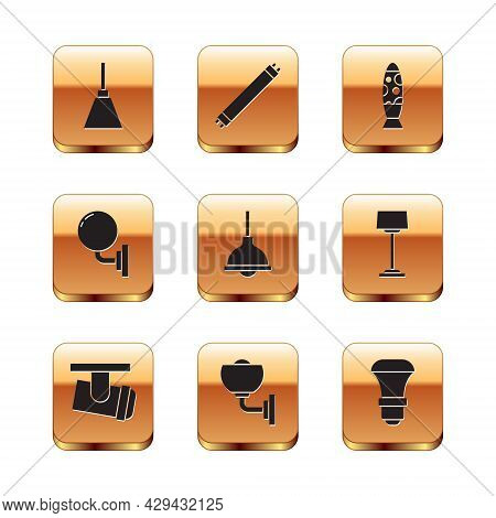 Set Chandelier, Led Track Lights Lamps, Wall Or Sconce, Lamp Hanging, Floor, Led Bulb And Fluorescen