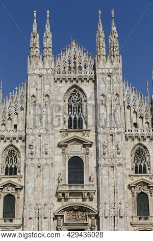 The Milan Cathedral Or Duomo Di Milano Is The Gothic Cathedral Church Of Milan