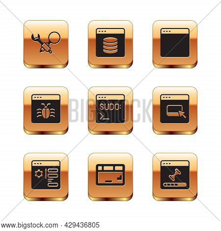 Set Debugging, Browser Setting, Keyboard, Code Terminal, System, Window, Loading Data And Server, Da