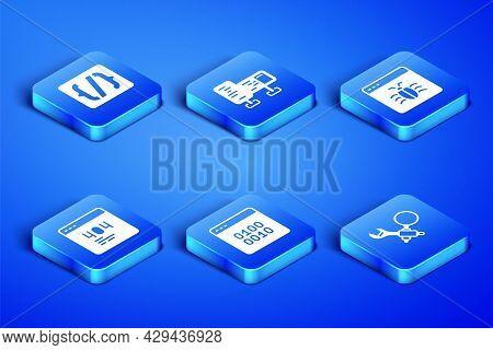 Set Debugging, Programming Language Syntax, Binary Code, Page With 404 Error, Computer Monitor Scree
