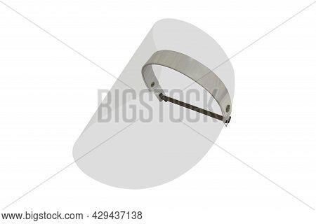 Medical Face Shield And Medical Mask For Protect Covid-19. Doctor Mask. Transparent Plastic Mask Hel