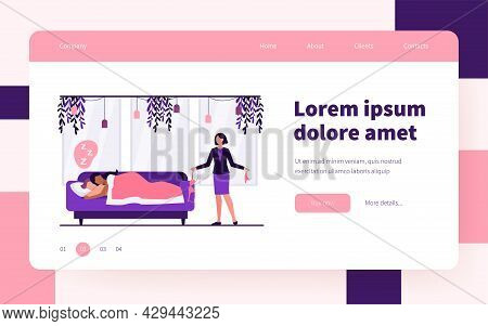Wife Finding Out About Marital Infidelity. Lover, Underwear, Sofa Flat Vector Illustration. Unfaithf