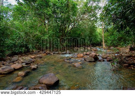Waterfall Green Forest River Stream Landscape, Mossy Rocks Waterfall Stream, Waterfall Rocks Stream