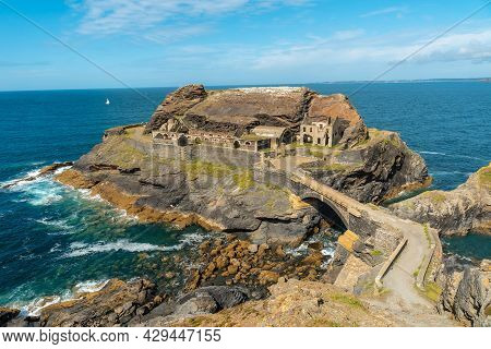 Fort Des Capucins A Rocky Islet Located In The Atlantic Ocean At The Foot Of The Cliff In The Town O