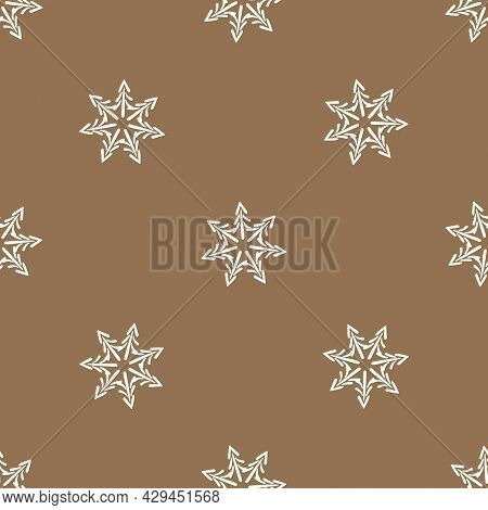Seamless Background Winter Foliage Gender Neutral Pattern. Whimsical Minimal Earthy 2 Tone Color. Ki