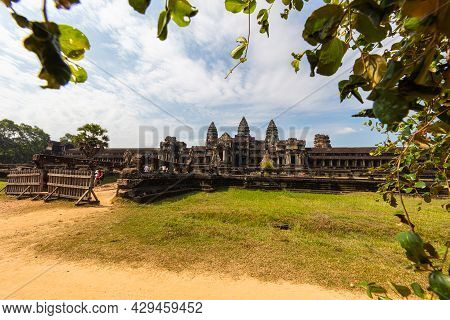 Angkor Wat, Cambodia - June 13, 2020: Siem Reap Temple Complex In The Rainforest Of The Angkoe Distr