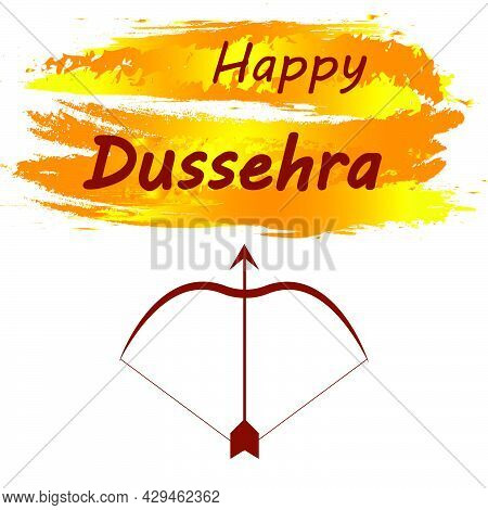Elegant Hindu Banner Of Dussehra Festival, Vector Art Illustration.
