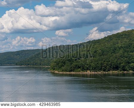 Beautiful Summer Skies Over The Allegheny Reservoir In The Allegheny National Forest In Mead Townshi
