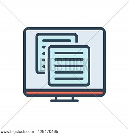 Color Illustration Icon For Application Web Site Coding Software Website Programming Technology