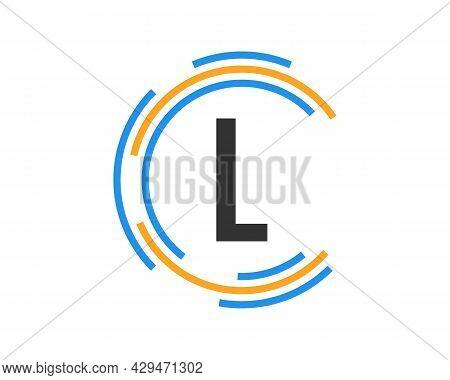 Technology Logo Design With L Letter Concept. L Letter Technology Logo