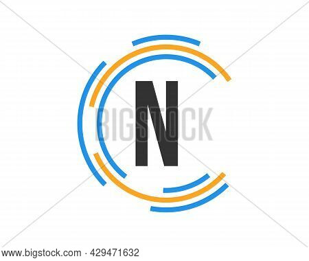 Technology Logo Design With N Letter Concept. N Letter Technology Logo