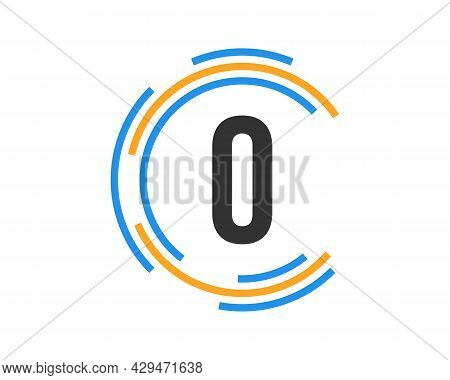 Technology Logo Design With O Letter Concept. O Letter Technology Logo