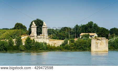 An image of Arles in France with river Rhone