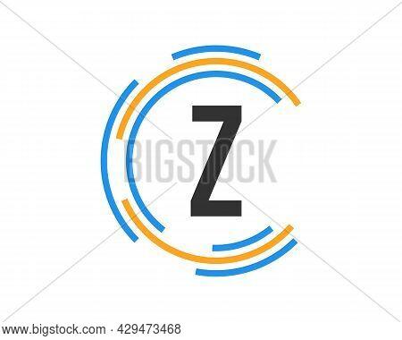 Technology Logo Design With Z Letter Concept. Z Letter Technology Logo