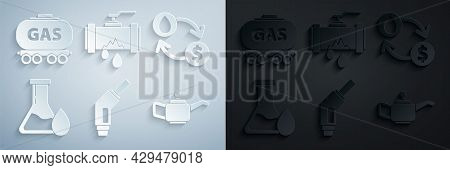 Set Gasoline Pump Nozzle, Oil Exchange, Water Transfer, Convert, Petrol Test Tube, Canister For Moto