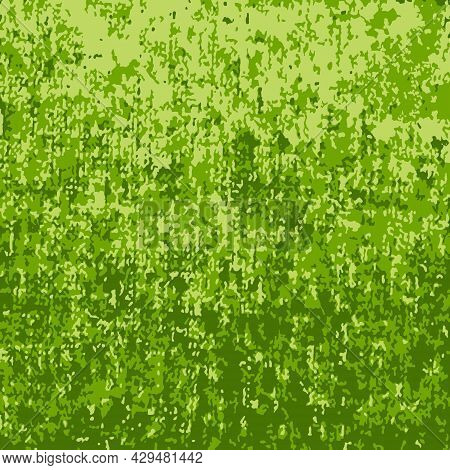 Green Camouflage Grunge Background, Vector Green Camouflage Background