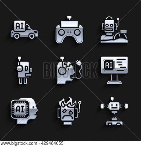 Set Robot Charging Battery, Burned Out, Disassembled Robot, Software, Humanoid, Humanoid Driving Car