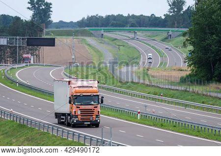 West Pomeranian - Poland - 2121: Car Traffic On A Modern Expressway
