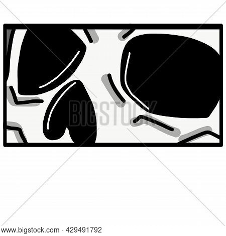 Manga Style Scull. Japanese Cartoon Comic Concept. Anime Character. Vector Design For T-shirt Graphi