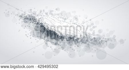 Microscopic Style Image With Biological Science Theme Vector Illustration, Abstract Background With