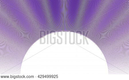 Vector Abstract Background With Wave Of Flowing Particles Frame, Smooth Curve Shape Lines, Particle