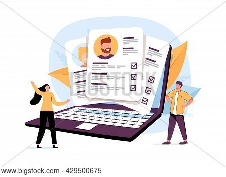 People Characters Choosing Best Candidate For Job. Hr Managers Searching New Employee. Recruitment P