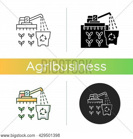Provision Surplus Icon. Goods Excess. Supply Demand For Products. Excessive Amount Of Crop. Financia