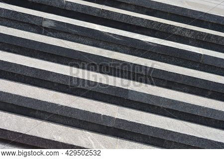Detail Of A Gray Stairway - Abstract Wallpaper