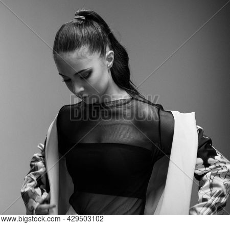Young model in a fashion shoot