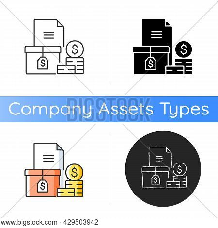 Accounts Receivable Icon. The Balance Of Money Due. Current Asset. Payment Terms. Financial Manageme